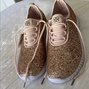 Daisy Fuentes Jacklyn Rose Gold Sparkle Sneakers